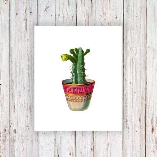 Cactus temporary tattoo