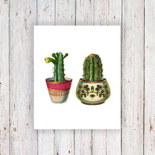 Cactus set temporary tattoo (2 pieces)