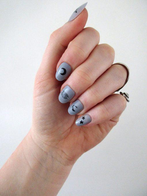 Moon & Stars nail decals