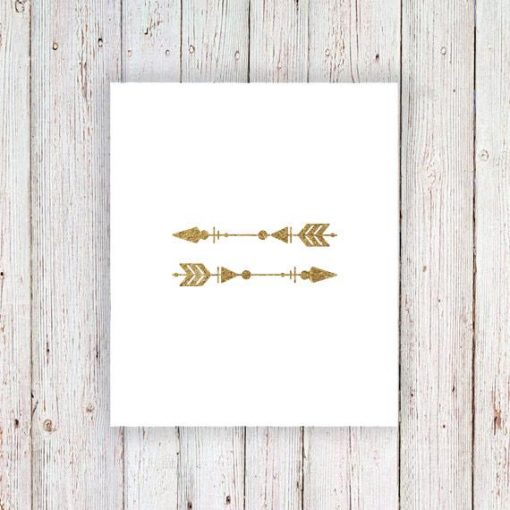 Gold arrow temporary tattoos (set of 2)