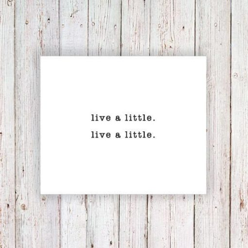 'Live a little' temporary tattoo (2 pieces)