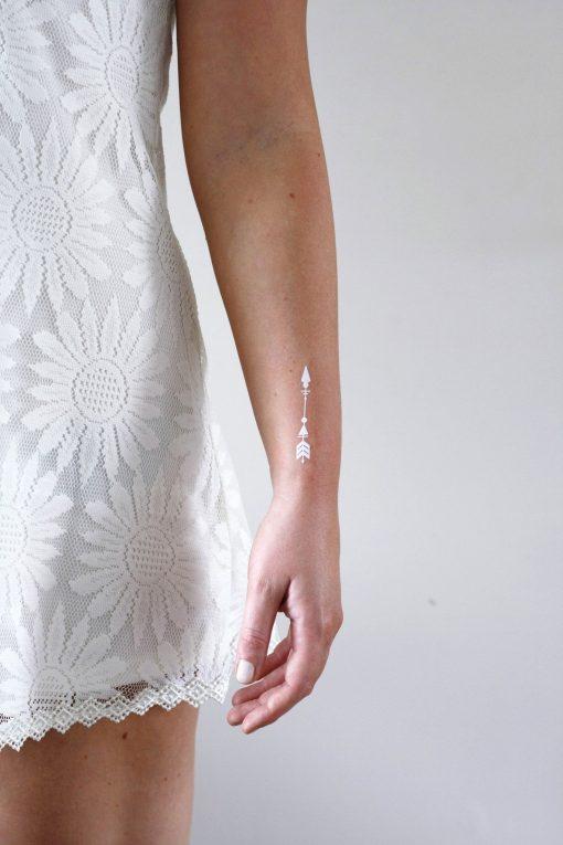 White arrow temporary tattoos (set of 2)