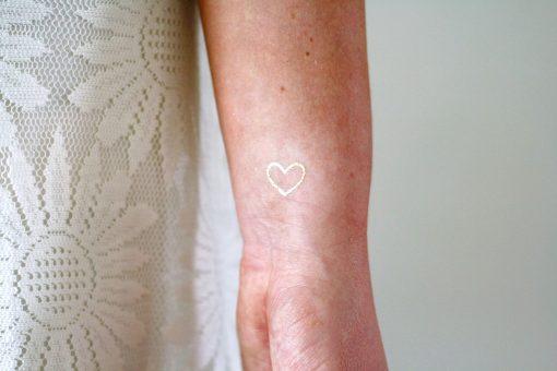 Small gold hearts temporary tattoos