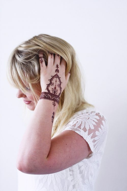 Henna style temporary tattoo