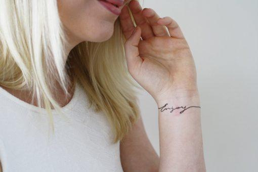Temporary wrist tattoo 'Enjoy' (2 pieces)