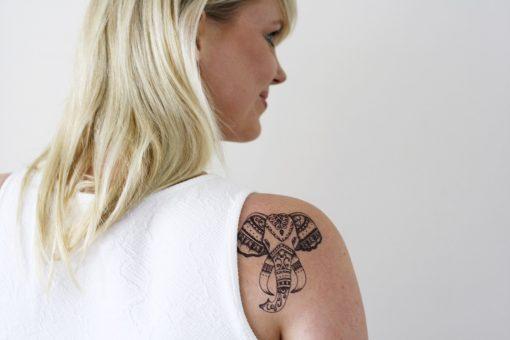 Elephant temporary tattoo