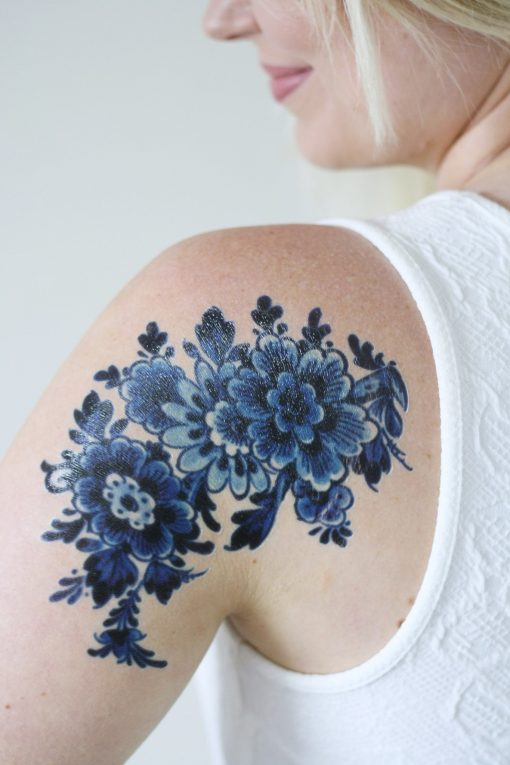 Large Delfts Blue tattoo