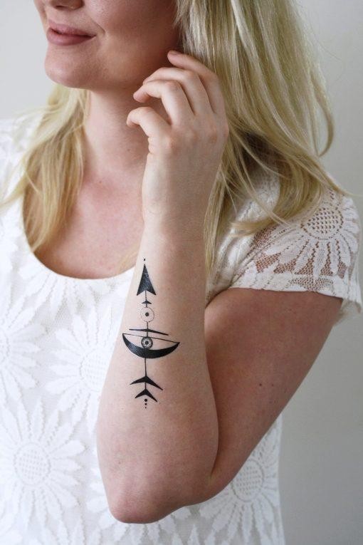 Bohemian arrow temporary tattoo