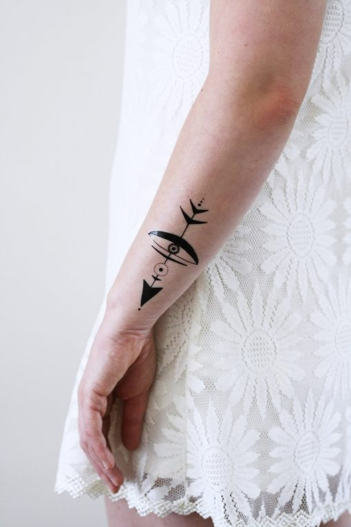 Bohemian arrow temporary tattoo