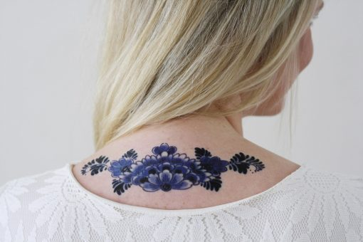 Delfts Blue back tattoo