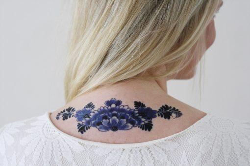 Delfts Blue back tattoo