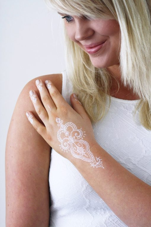 White henna temporary tattoo