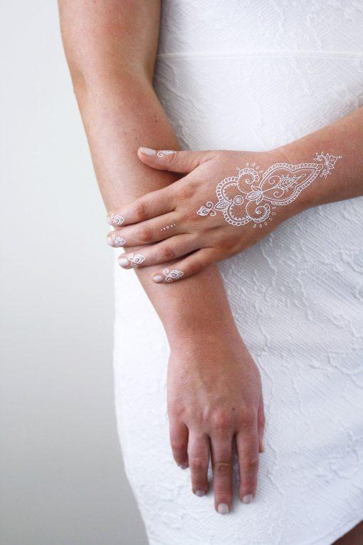 White henna temporary tattoo
