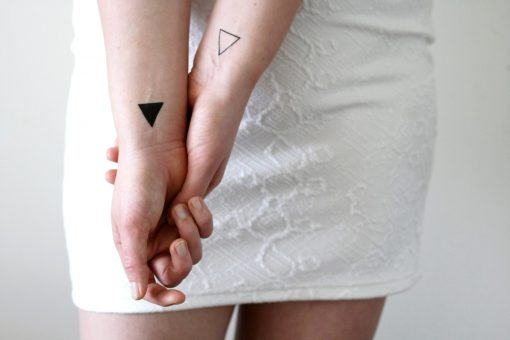 Small triangle temporary tattoos (4 pieces)