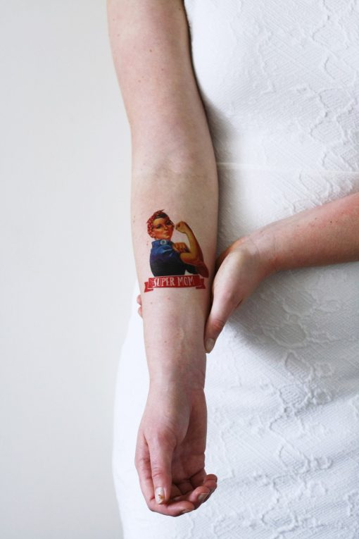 Mother's day temporary tattoo 'Super Mom'