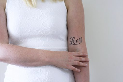 Temporary Love tattoo
