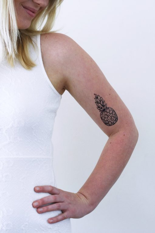 Pineapple temporary tattoo