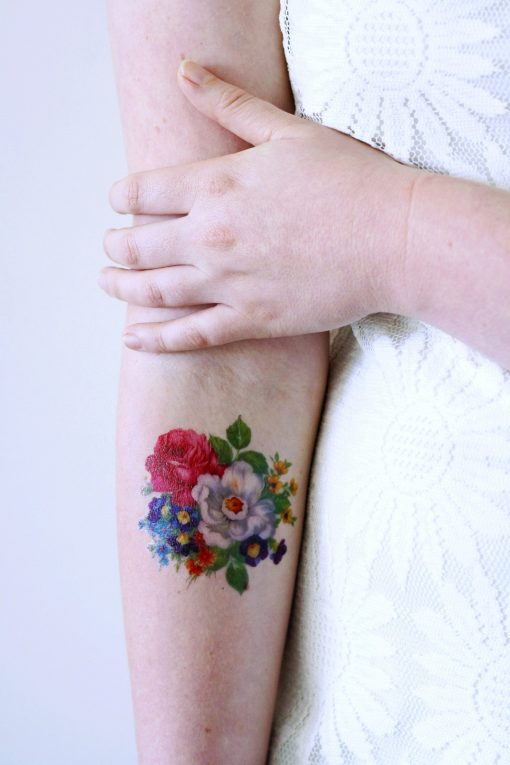 Pretty floral temporary tattoo