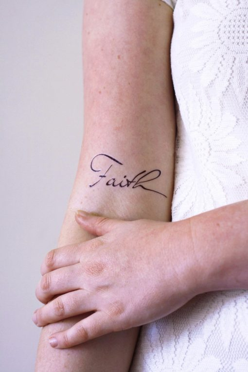 Temporary Faith tattoo