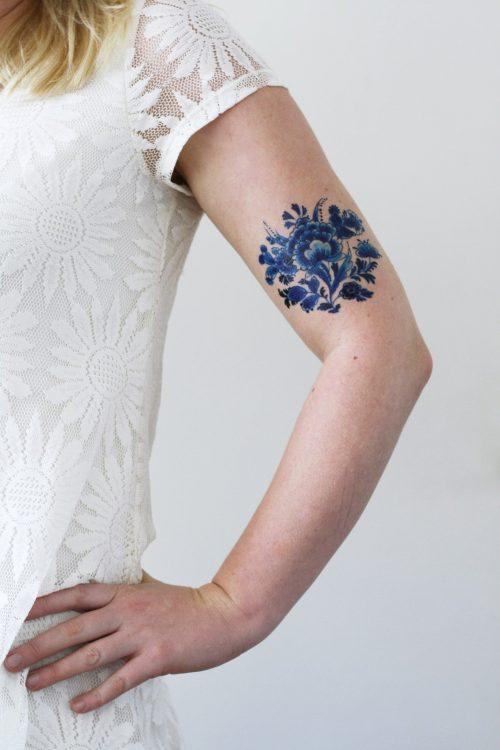 Delft Blue tattoo