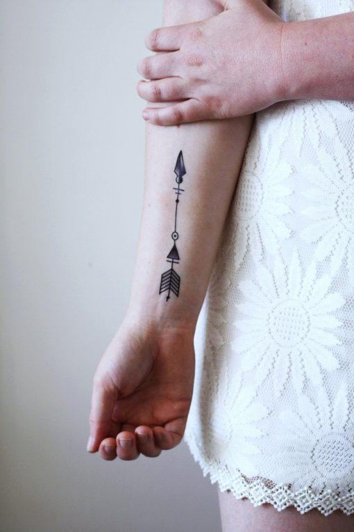 Arrow temporary tattoo