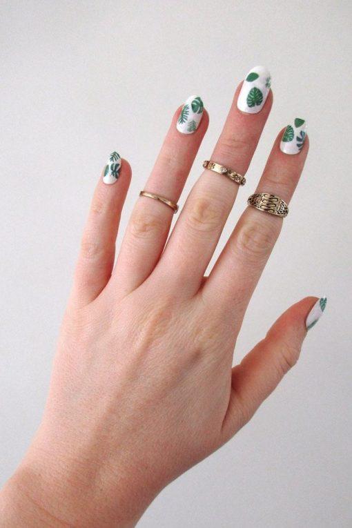 Leaf nail decals
