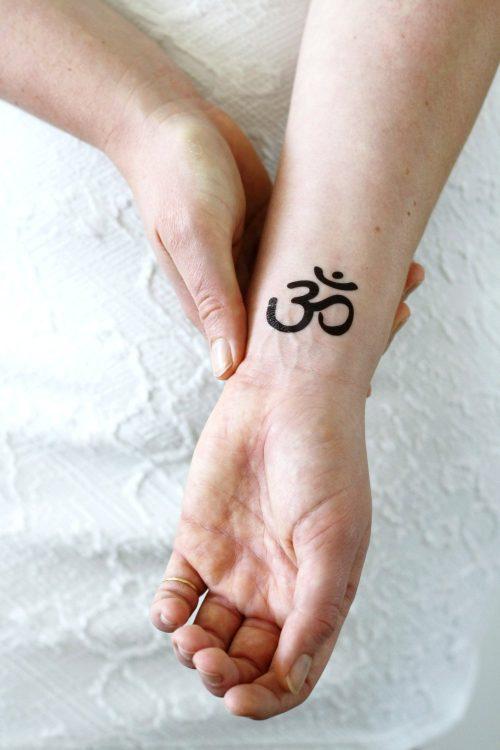 Om / Aum temporary tattoo