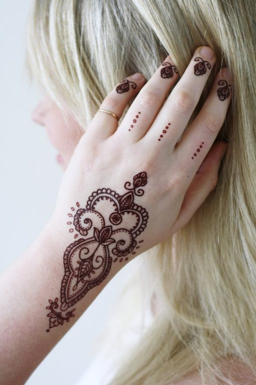 Bohemian henna temporary tattoo