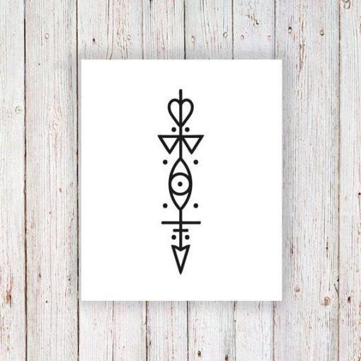 Small arrow temporary tattoo
