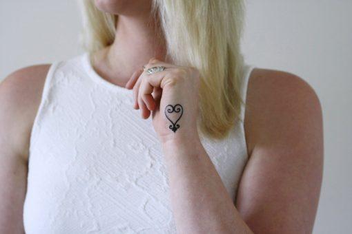 Sankofa temporary tattoo (Adrinkra symbol)