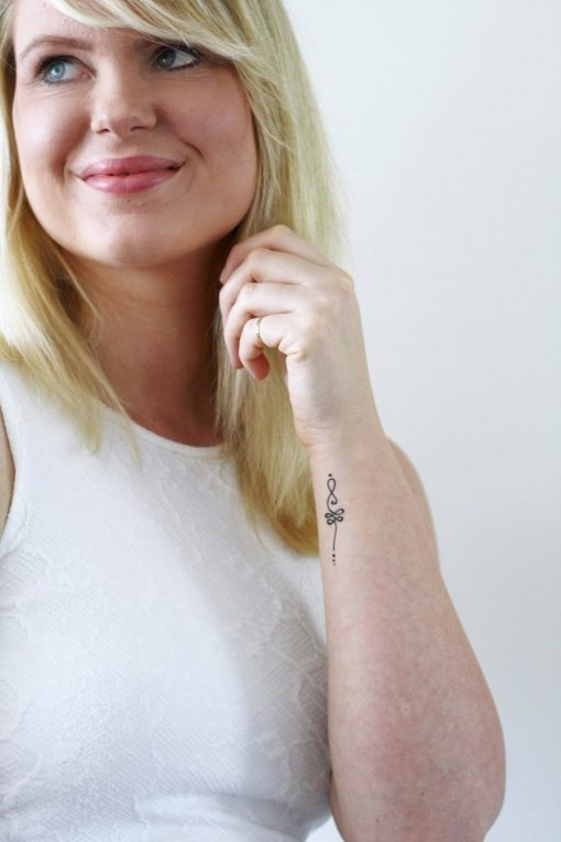 Unalome temporary tattoo set (2 pieces)