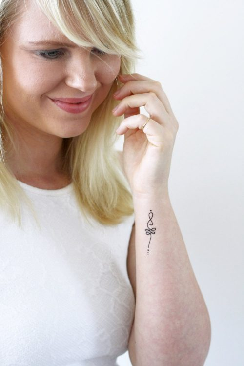 Unalome temporary tattoo set (2 pieces)