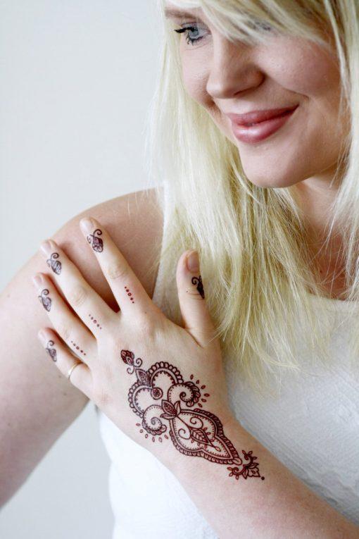 Bohemian henna temporary tattoo
