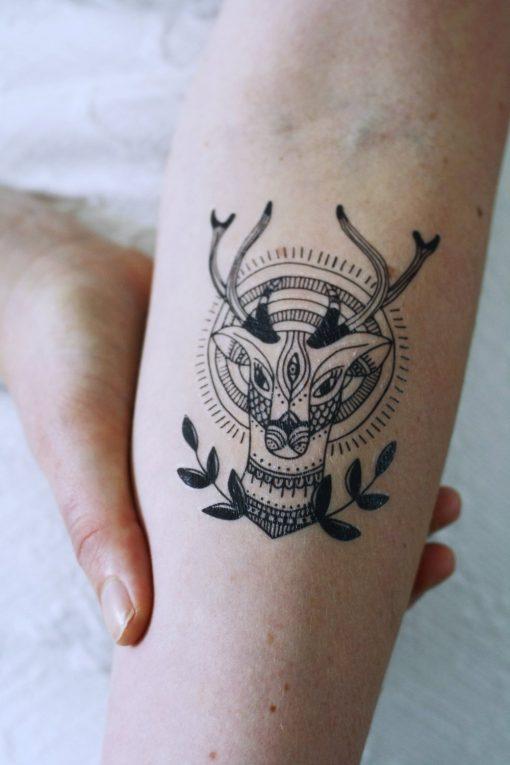 Deer temporary tattoo