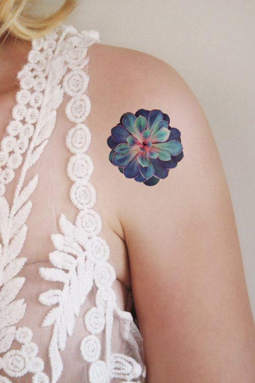 Succulent temporary tattoo