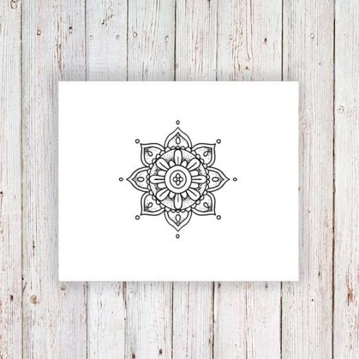 Small mandala temporary tattoo