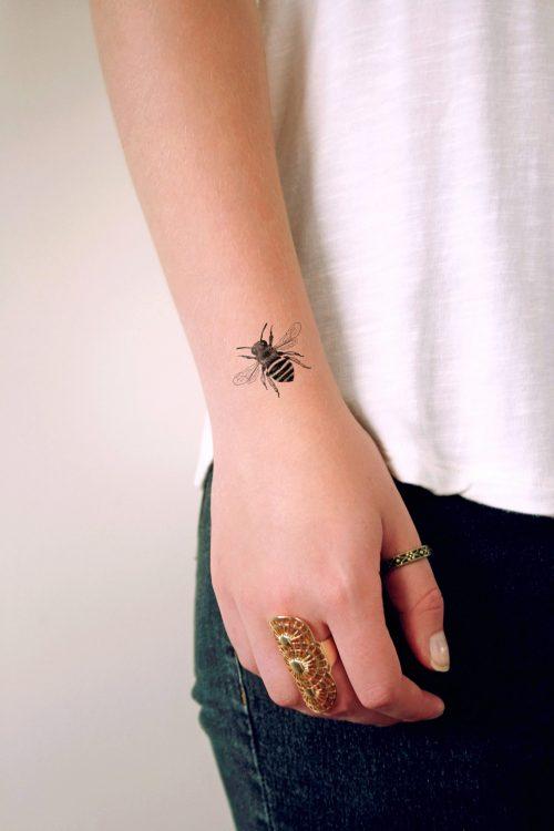 Bumblebee temporary tattoo