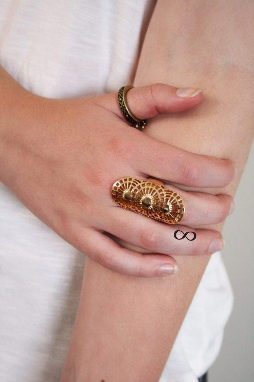 Small infinity finger temporary tattoo set