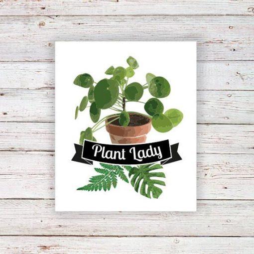 Plant lady temporary tattoo