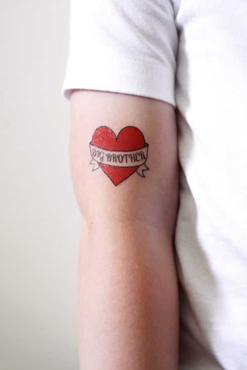 Big Brother temporary tattoo