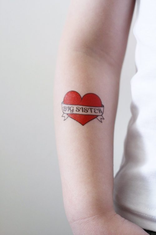 Big Sister temporary tattoo
