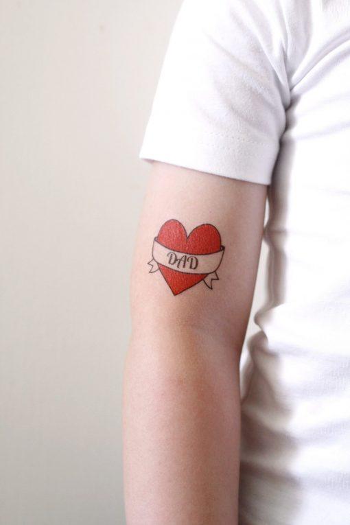 I love dad temporary tattoo