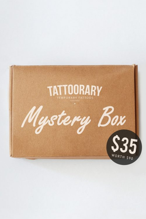 Mystery box - $90 worth of tattoos for just $35!