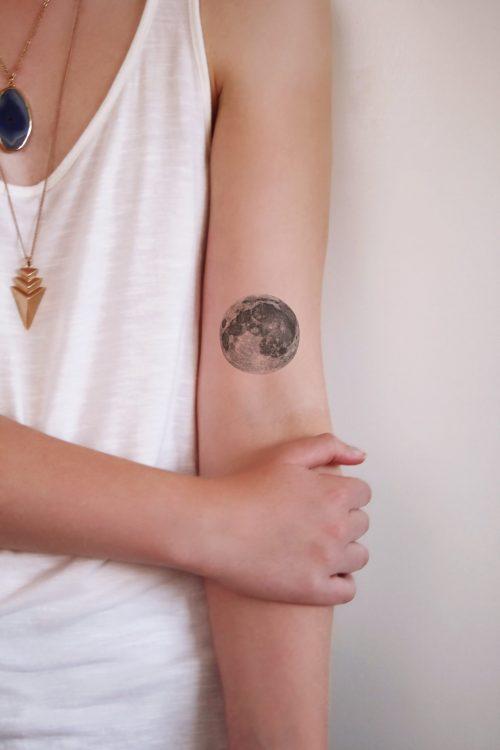 Full moon temporary tattoo