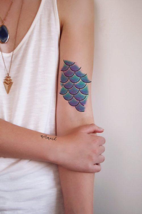 Mermaid Scales temporary tattoo