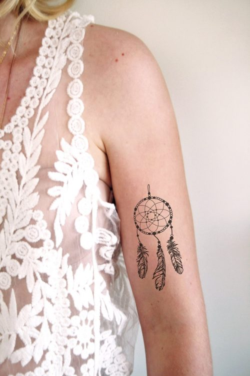 Dream catcher temporary tattoo