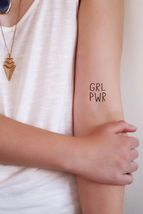 GRL PWR temporary tattoo