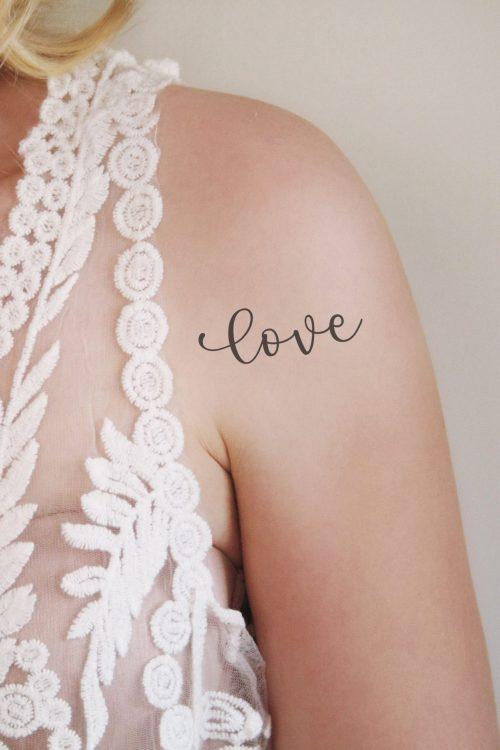 Temporary tattoo 'Love'