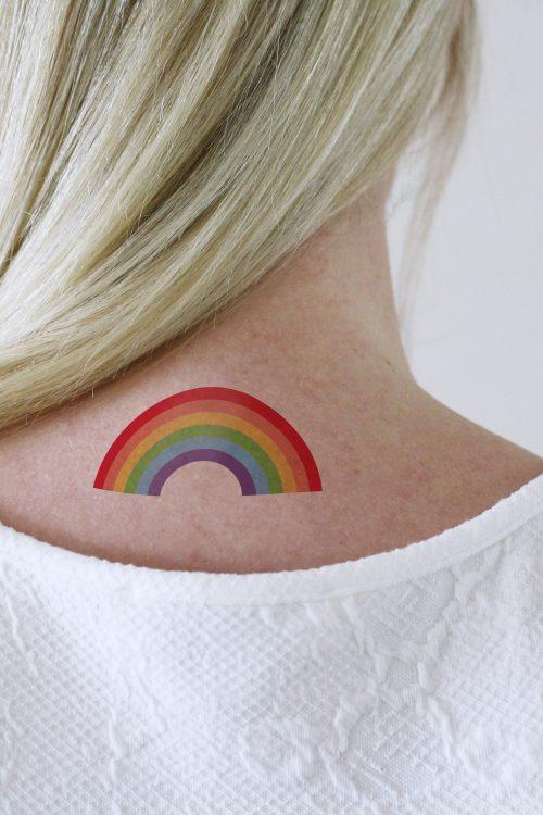 rainbow temporary tattoo 2