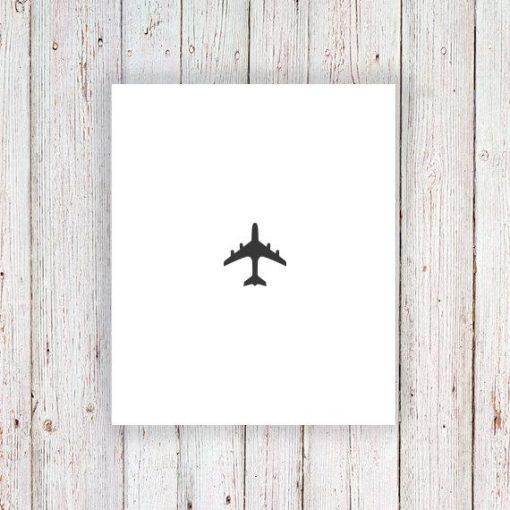 Small plane temporary tattoo